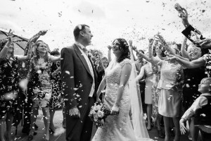 Amazing Black & White Confetti Moment