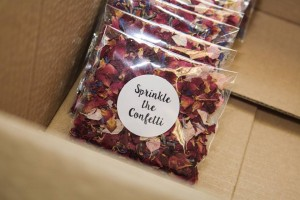 Non-personalised Biodegradable Wedding Confetti Envelopes.