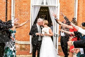 Confetti Moment Using Biodegradable Wedding Confetti