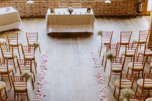Rose Petals as Walkway Decor.