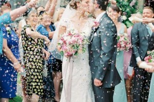 Confetti Cone Company Customer Picture With Biodegradable Wedding Confetti