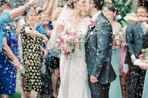 Confetti Cone Company Customer Picture With Biodegradable Wedding Confetti