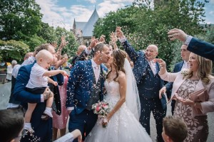 Rachel and Liam's Stunning Confetti Moment!