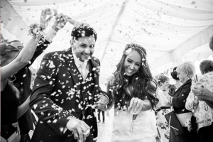 Black & White Confetti Moment