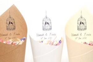 Tweet-heart Confetti Cones