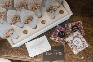 Biodegradable Wedding Confetti At Cleatham Hall