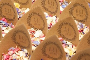 Boho Wedding Confetti Cones