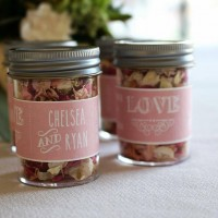 Personalised Jars for Wedding Confetti