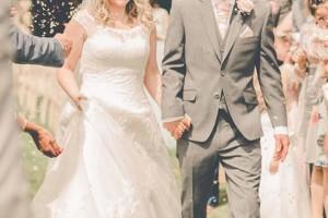 Summer Wedding Confetti Moment