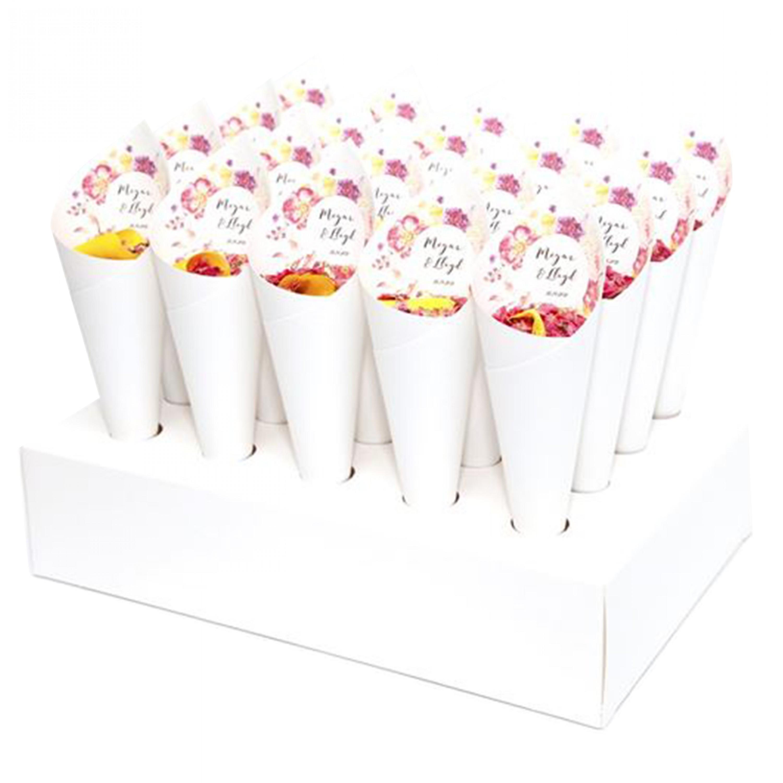 Fleur Confetti Cone Package