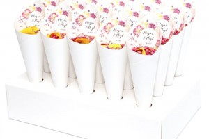 Fleur Wedding Confetti Cones And Biodegradable Confetti