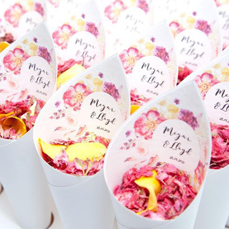 Fleur Confetti Cones