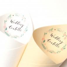 Floral Confetti Cones