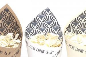 Gatsby Confetti Cones