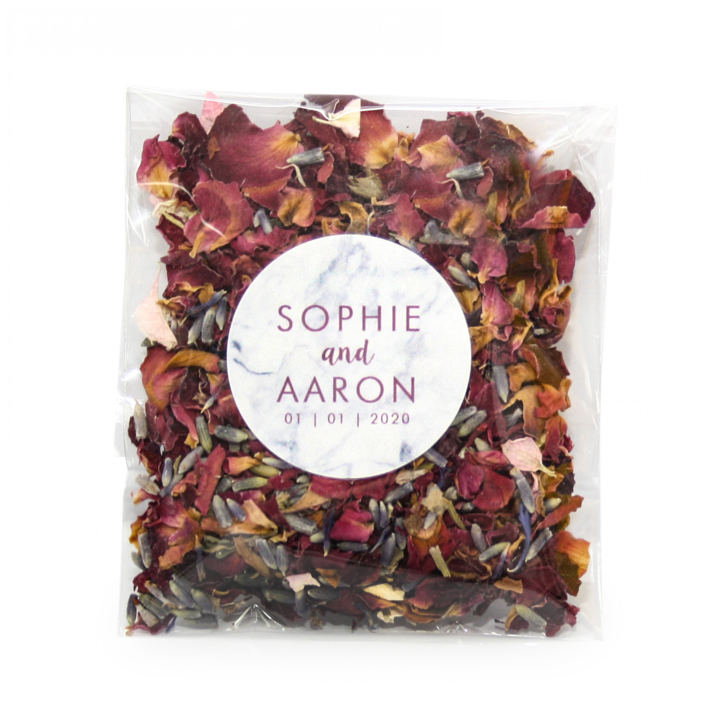 Marble Style Wildflower Confetti Envelopes