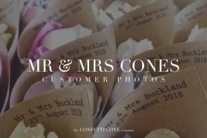 Mr & Mrs Confetti Cones | Biodegradable Wedding Confetti