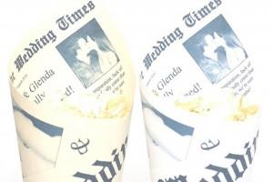 Newspaper Confetti Cones