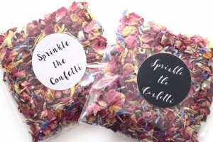 Wedding Confetti On A Budget - Biodegradable Wedding Confetti