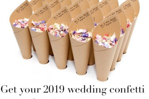 Don't delay, order today!  Biodegradable Wedding Confetti
