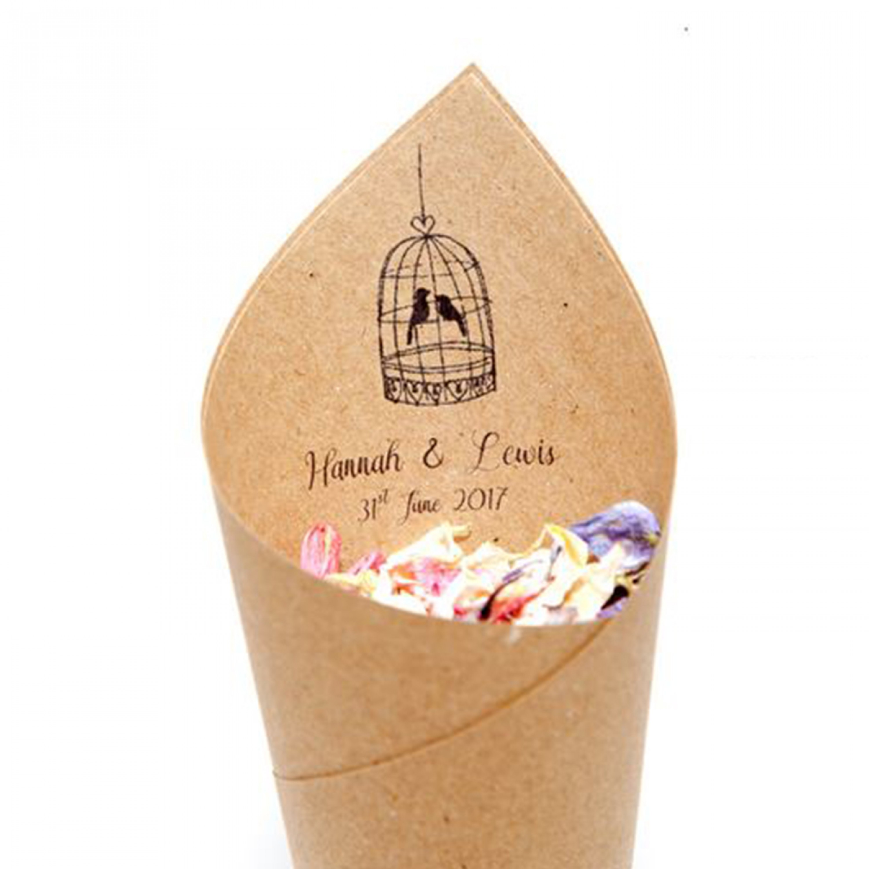 Tweet Hearts Confetti Cones