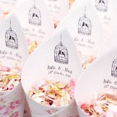 Vintage Tweet Hearts Confetti Cone Package