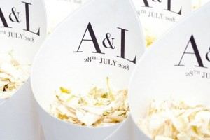 Stylish Wedding Ideas. | Biodegradable Wedding Confetti and Confetti Cones