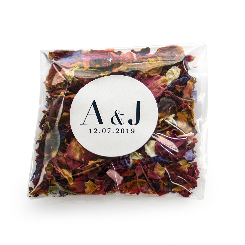 Vogue Style Wildflower Confetti Envelopes