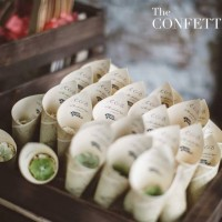 Personalised Cones for Wedding Confetti