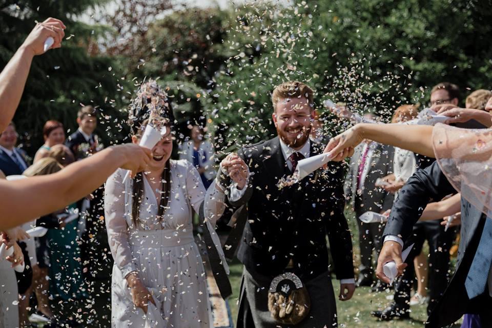 Confetti cone wedding confetti moment