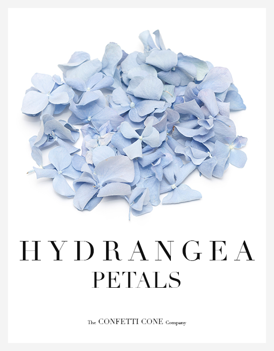 Hydrangea Natural Wedding Confetti Petals