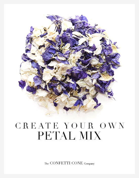 Create your own mix of Natural Wedding Confetti Petals