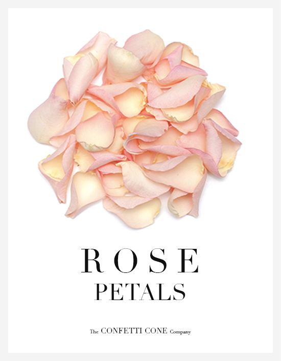 Rose Petal Natural Wedding Confetti